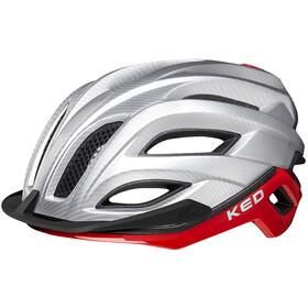 KED Champion Visor - Casque de vélo - rouge/argent
